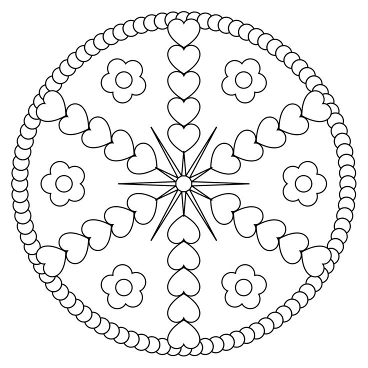 mandala coloring pages of sunday - photo#22