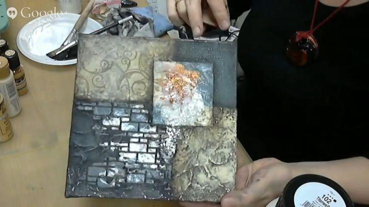 Видео мастер-класс Mixed Media панно Абстрактная композиция Наталья Жуко...