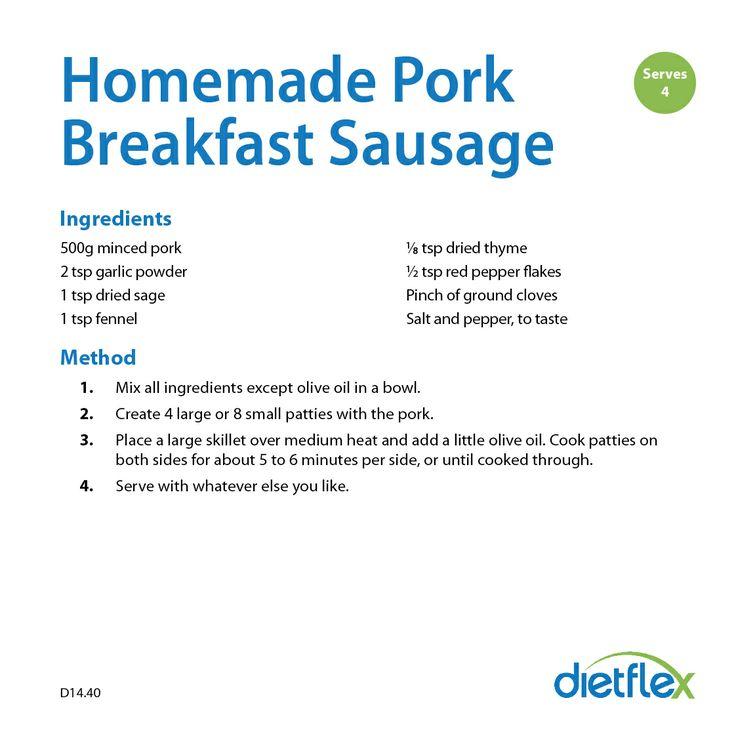 Homemade Pork Breakfast Sausage #HealthyRecipes #dietflex