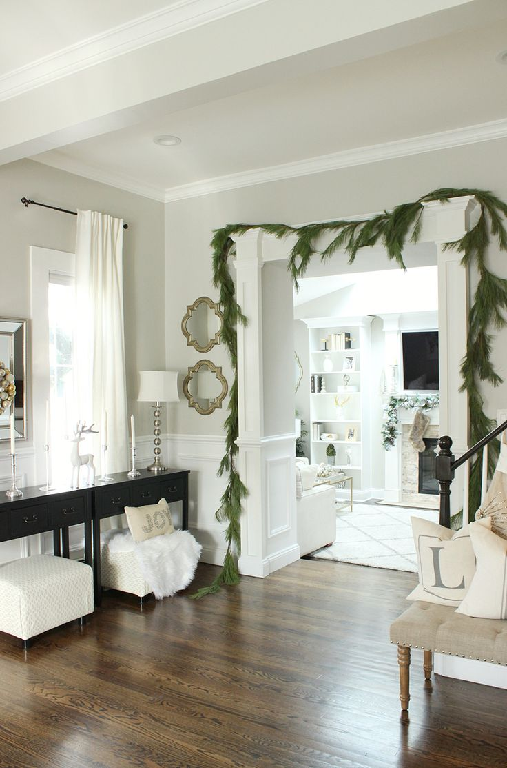 love the garland around the doorway