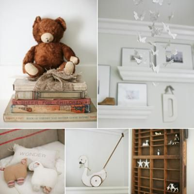 Our vintage nursery was inspired by vintage details, and soft neutrals. We are adopting and won't know the sex of the baby ahead of time, so it had to