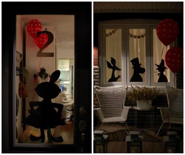 mint in the middle: muumi synttärit - moomin birthday ♥ shadow idea