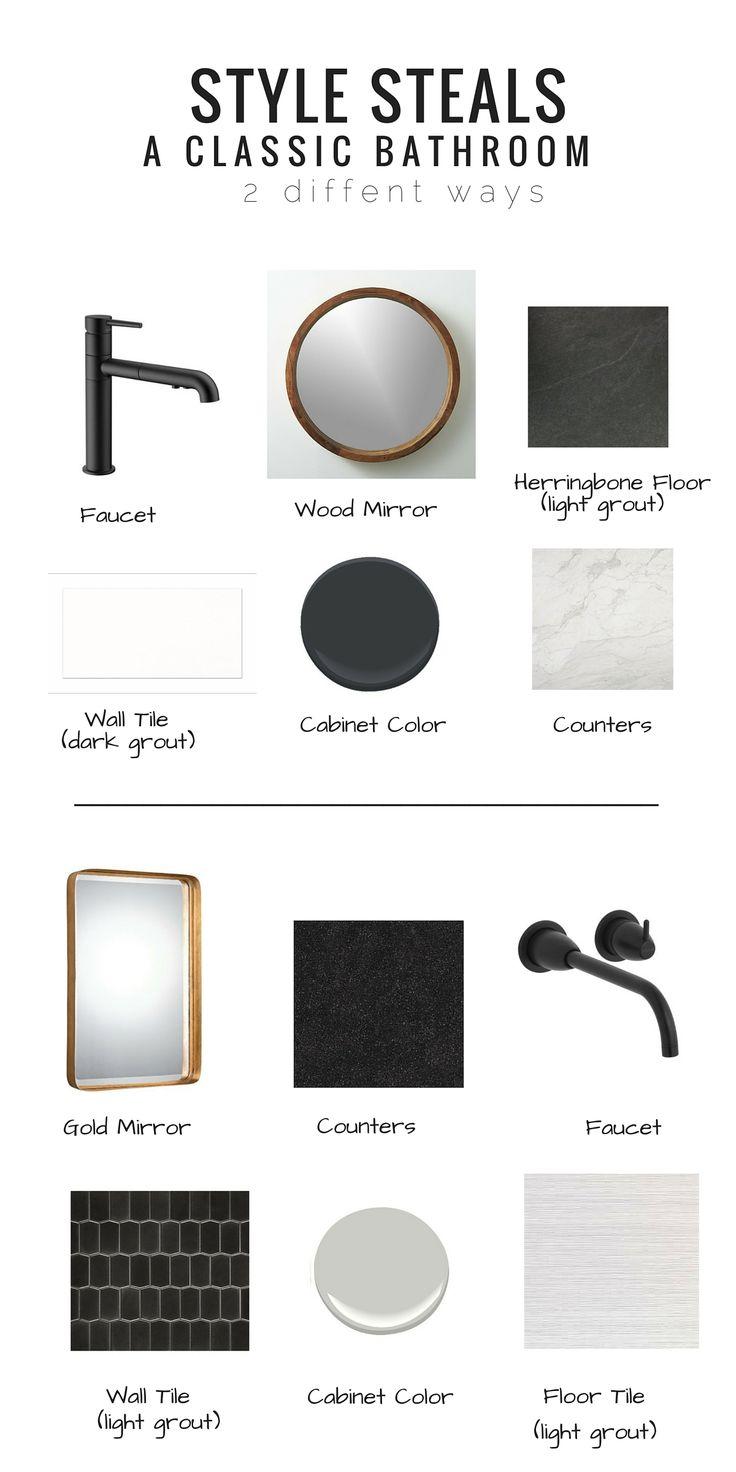 STYLE STEALS: CLASSIC BLACK AND WHITE BATHROOM - Studio Thomas