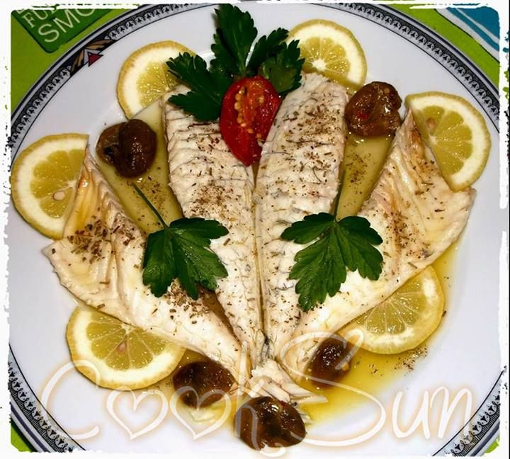 Sea Bream Fan By Rita Zacchino  Check out full recipe of the dish by going to our product product page under the Recipe tab: http://www.gourmetimportshop.com/Ariosto-Roasted-and-Grilled-Fish-Seasoning-p/ar01074.htm