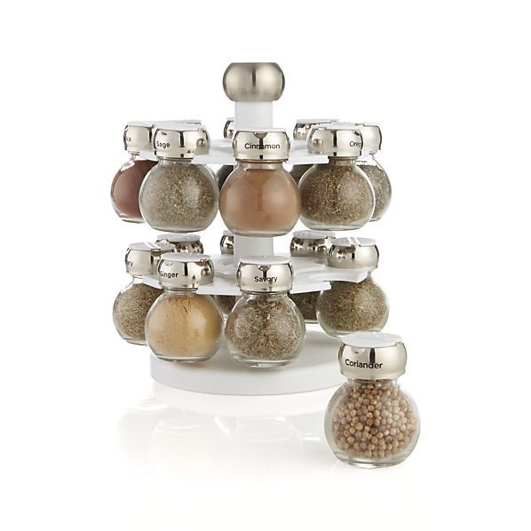 Revolving Spice Rack with 16 Jars- $40