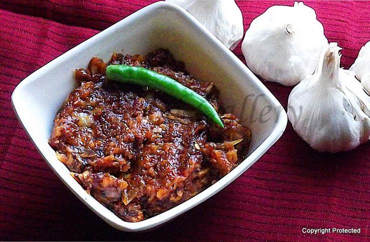 #Garlic #Chutney, #Lehsun Chutney -- a yummy side to #paratha or plain hot #rice and ghee