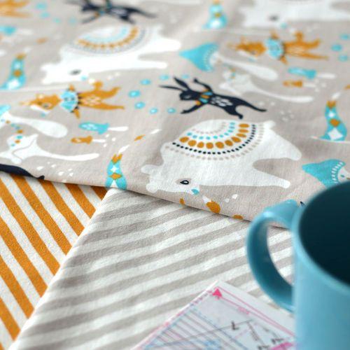 NOSH Organics Fabrics - SIRKUS, Blue