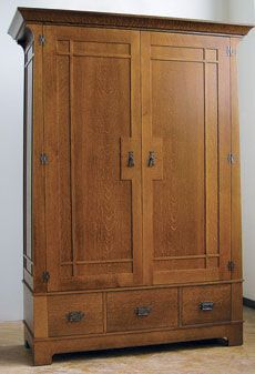 Craftsman-style Armoire. I just friggin' love this design.