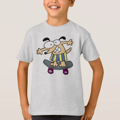 #Skateboarder Character Skateboarding Fun Skateboar T-Shirt - #cool #kids #shirts #child #children #toddler #toddlers #kidsfashion