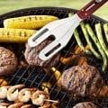 Show off your grilling skills this summer with the 3-in-1 BBQ tool! It can transform from a spatula to a fork to a pair of tongs, so you can easily flip your burgers, spike your hotdogs and grab your chicken legs with ease. Features a simple slide-n-lock mechanism to switch tools.