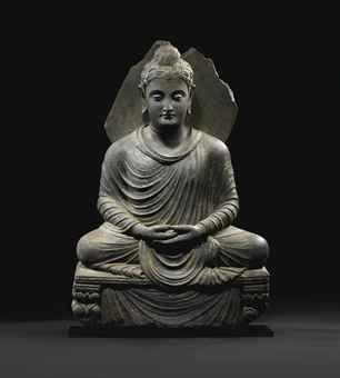 Image from http://www.christies.com/lotfinderimages/d55219/rare_statue_de_bouddha_shakyamuni_en_schiste_gris_region_du_gandhara_i_d5521904h.jpg.