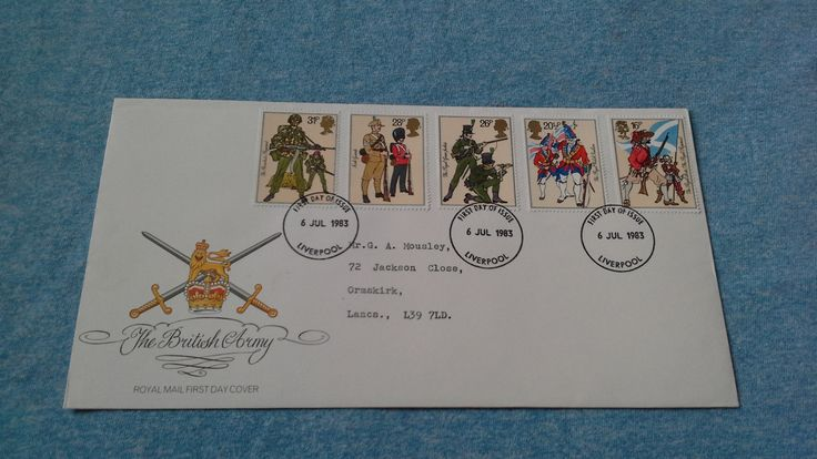 Royal mail first day cover british army uniforms 1983 stamp cover by brianspastimes on Etsy