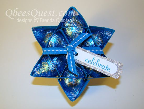 Qbee's Quest: Hershey's Kisses Star Tutorial (6-point)