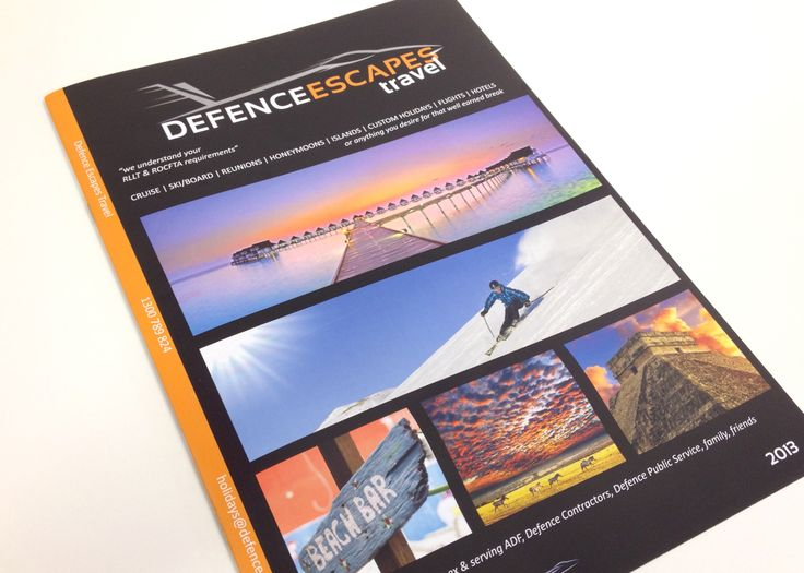 Defence Escapes travel booklet