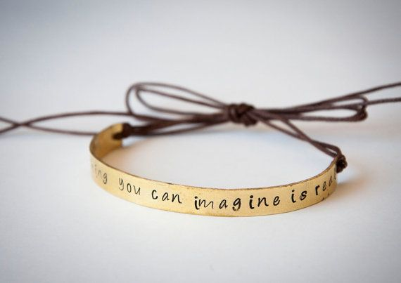 Semi rigid bracelet with personalized lettering by SilviaWithLove