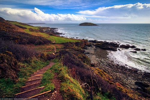 Winding Path, George's Island, Hannafore Beach, Looe, Cornwall, England