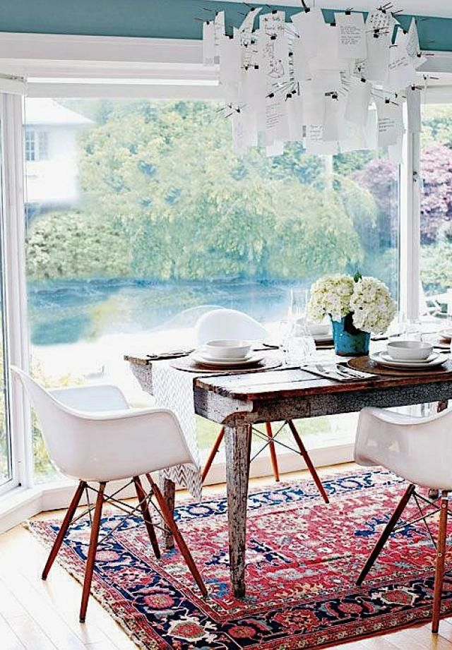 Oriental Rugs In Modern Scandinavian Design Dinning Room IdeasDinning ChairsDining