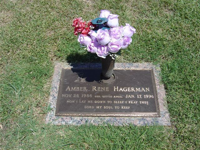 Amber Hagerman (1986 - 1996) After her abduction and murder the Amber Alert system was developed to notify the public of child kidnappings, Amber is an acronym for America's Missing Broadcast Emergency Response