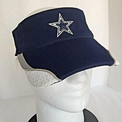 Dallas Cowboys NFL Football Visor Hat Cap Reebok Sideline Adult Adjustable