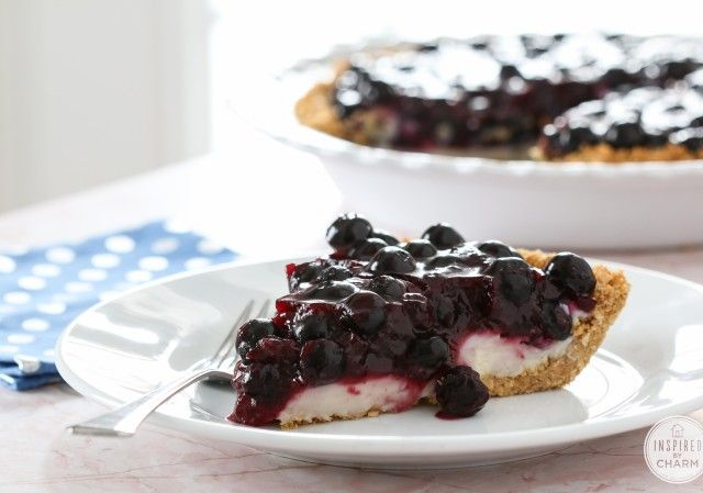 Super Light Blueberry Cream Pie This Is So And Tasty