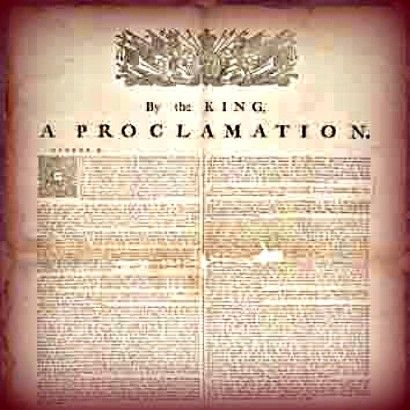 an analysis of royal proclamation passed by king george Royal proclamation essay examples an analysis of the topic of the second royal proclamation passed by king george iii recognizes aboriginal people as.
