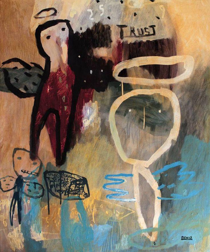 "Saatchi Art Artist deny pribadi; Painting, ""in god i trust"" #art"