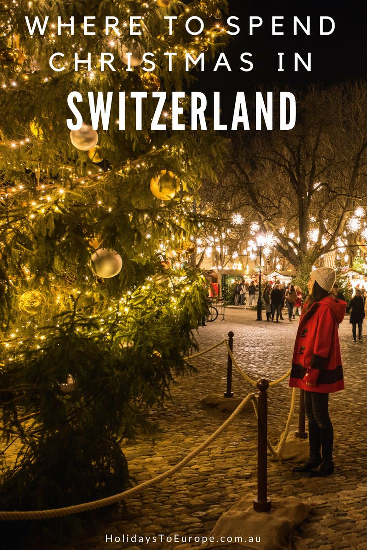 Where to Spend Christmas in Switzerland // Switzerland is the ideal destination to experience a white Christmas. Whether you prefer to visit a city or mountain village, you'll enjoy plenty of magical Swiss Christmas moments.  This post helps you decide where to spend your Christmas vacation in Switzerland.