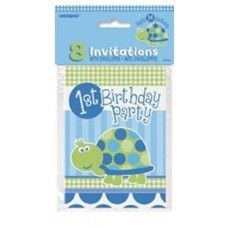 Start your 1st Birthday off with a bang using these lovely Invitations