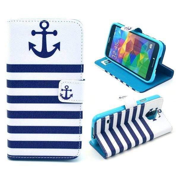 Anchor blue stripes 3-in-1 hoes voor Samsung Galaxy S5