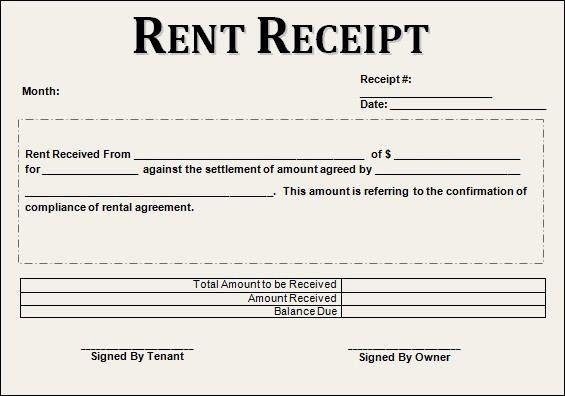 Fresh 12 House Rent Receipt Formats Receipt Template Free Receipt Template Rent