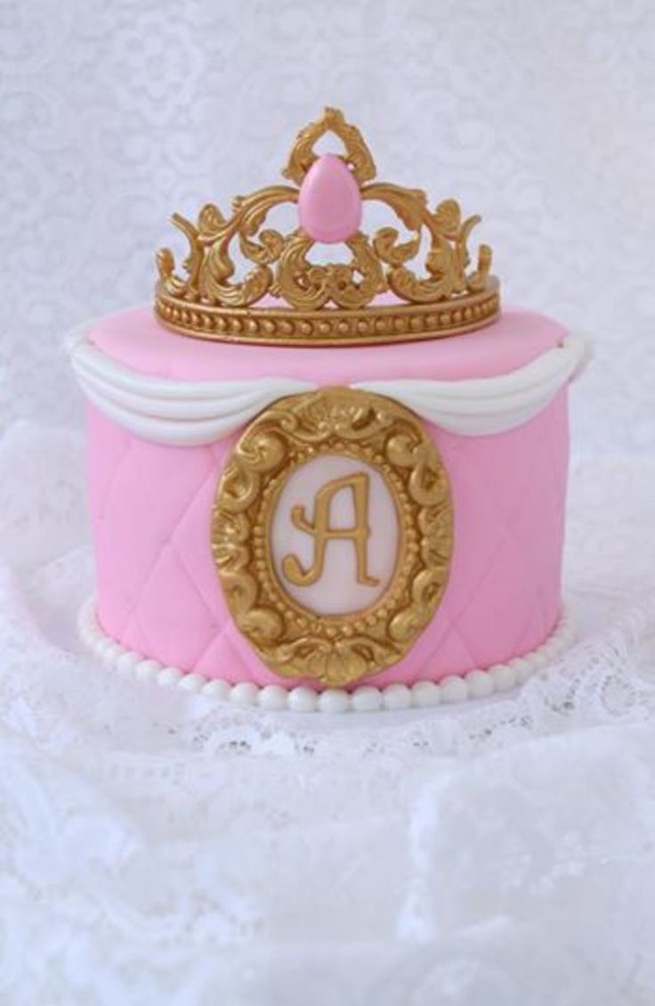 Princess Cake With Gumpaste Crown And Frame