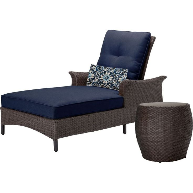 hanover gramercy2pc gramercy 2piece steel framed outdoor chaise lounge chair se navy blue furniture