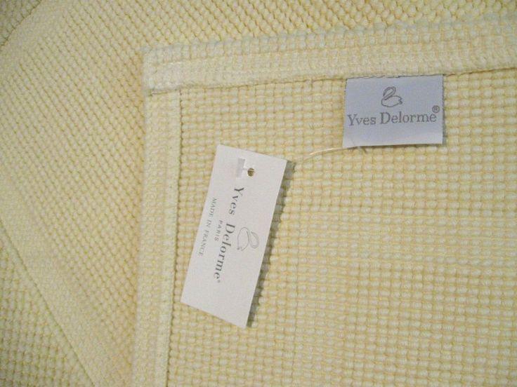 New Yves Delorme Etoile Buttercream Towels W Bath Mat