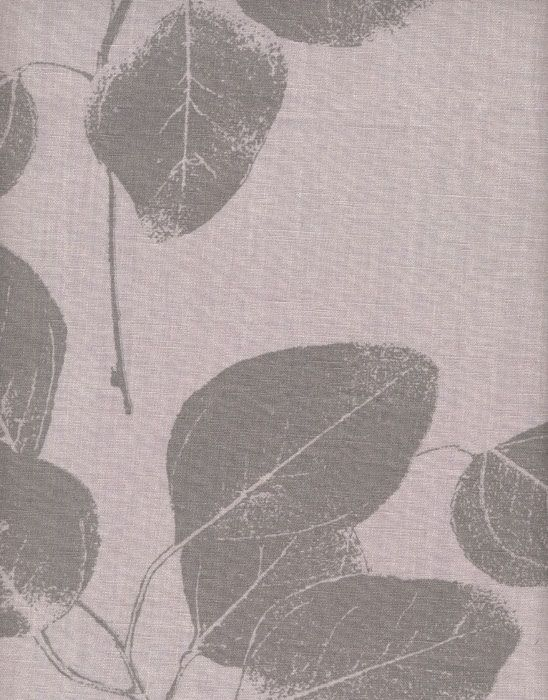 Leaf Steel Linen Fabric