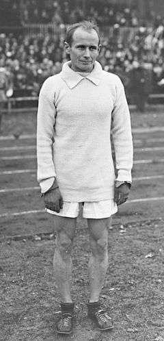 "Hannes Kolehmainen (9 December 1889 – 11 January 1966), Finnish middle-distance and long-distance runner. He was the first in a generation of great Finnish long distance runners, often named the ""Flying Finns"". -  http://en.wikipedia.org/wiki/Hannes_Kolehmainen"