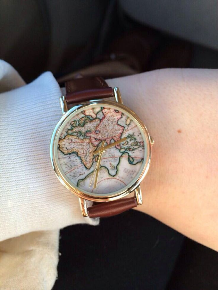 World map watch 34 at urban outfitters accessories Pinterest Urban out