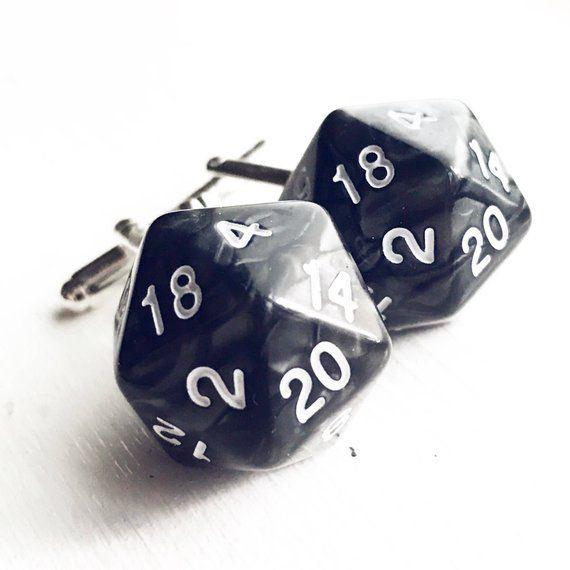 D20 Cufflinks Dungeons and Dragons Geek Wedding D&D Cuff Links Nerd Nerdy Groom Groomsmen Dungeon Master Gift for Men Polyhedral Dice