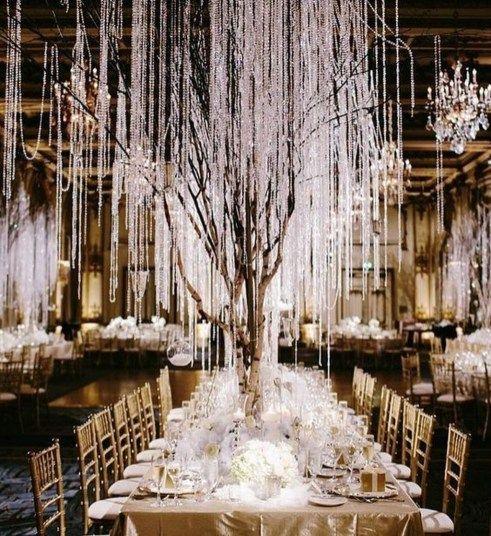 Stilvolle Winter-Märchenland-Hochzeits-Thema Ideas09   – My dream wedding