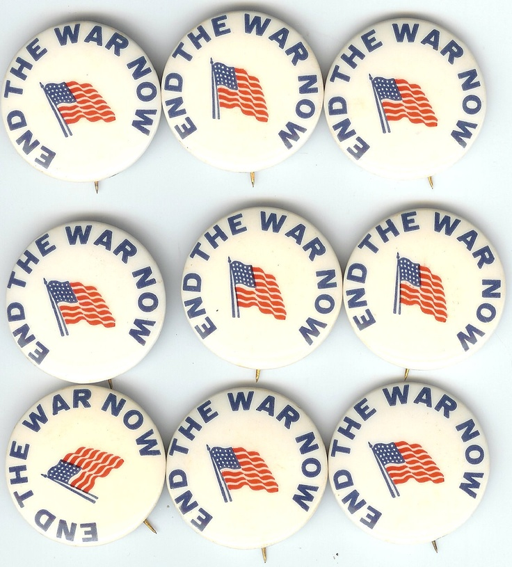 END THE WAR NOW Pins