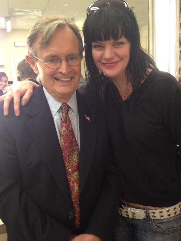 Pauley and David McCallum at @CBSLA@RedCross Hurricane relief telethon