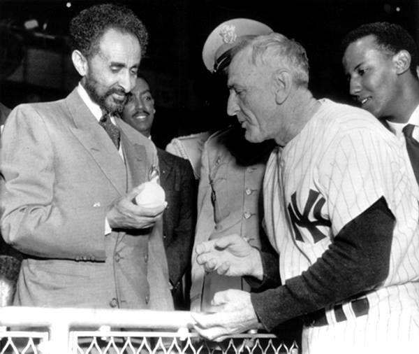 Gallery of Emperor Haile Selassie | Mbuzi Mzee: On May 31, 1954, Emperor Haile Selassie was at Yankee ...