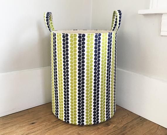 Vine Stripe Laundry Hamper Fabric Organizer Large Fabric Hamper