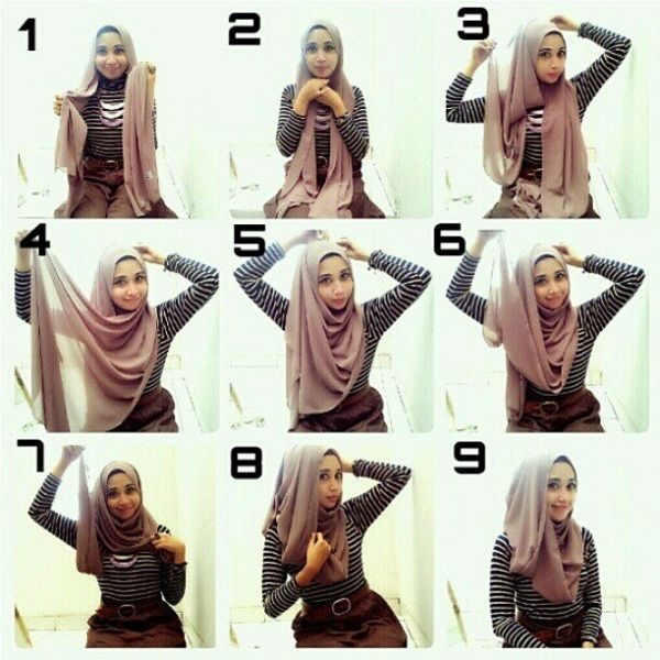 Stylish Hijab Picture Tutorial *Covering Your Chest*