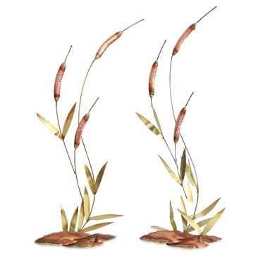 Check out this item at One Kings Lane! Midcentury Wall Sculptures, Pair