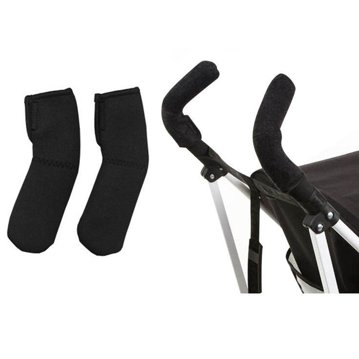 2pcs/lot Black Neoprene Baby Stroller Grip Cover Carriages Poussette Handle Protector Cover for Armrest Covers Handle Pram