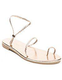 Ideal Shoes - Sandales plates avec bride tressée Belmina