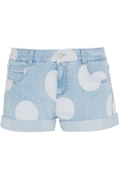 Stella McCartney - Bleached Denim Shorts - Light denim -
