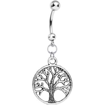 Tree of Life Belly Ring #piercing #bodycandy #bellyring $3.99