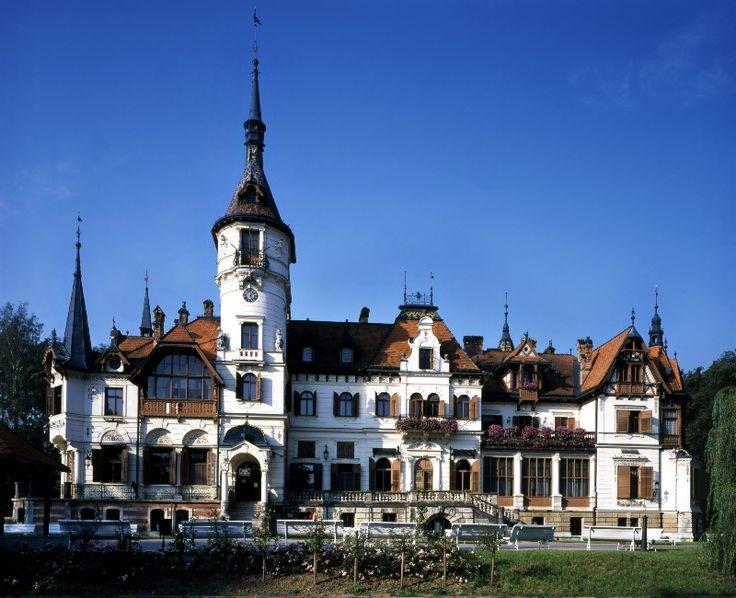Lešná - chateau is in the ZOO Lešná area