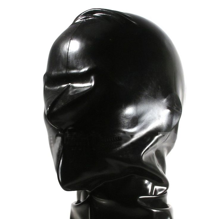 latex mask with suffocation hoods